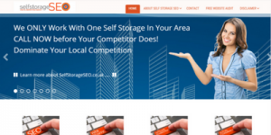 Self Storage WordPress Website London